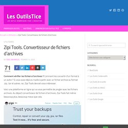 Zipi Tools. Convertisseur de fichiers d'archives