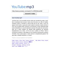 Convertitore da Youtube a mp3