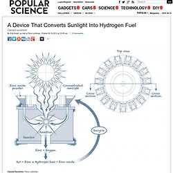 A Device That Converts Sunlight Into Hydrogen Fuel