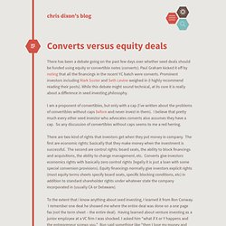 Converts versus equity deals cdixon.org – chris dixon's blog