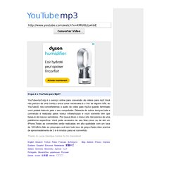 Convesor de Videos do YouTube para MP3