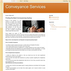 Conveyance Services: Finding the Best Conveyancing Sydney