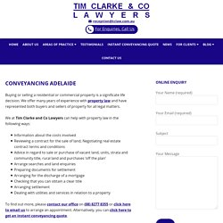 Conveyancing in Adelaide