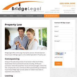 Get Property Coveyancing Services at Reasonable Rates