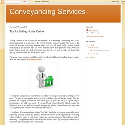 Conveyancing Services: Tips for Selling House Online