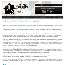 Things to Consider Before Choosing a Conveyancing Solicitor