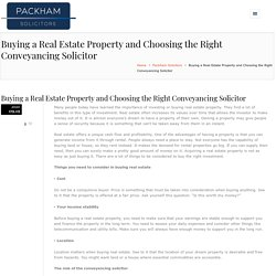 Buying a Real Estate Property - Right Conveyancing SolicitorHenry Packham Solicitors