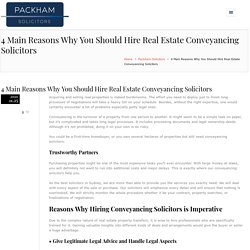 Why You Should Hire Real Estate Conveyancing SolicitorsHenry Packham Solicitors