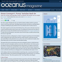 Ocean Conveyor's 'Pump' Switches Back On