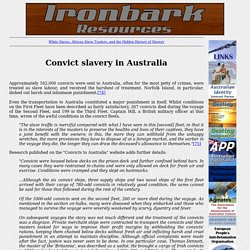 Convict slavery in Australia