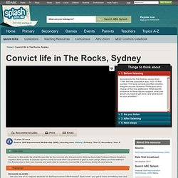 Media - Convict life in The Rocks, Sydney