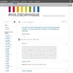 Les gels de Jean Messagier et les taches d'Alexander Cozens: la conviction de la nature, l'incertitude du paysage