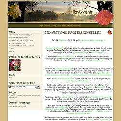 CONVICTIONS PROFESSIONNELLES - librA-venir