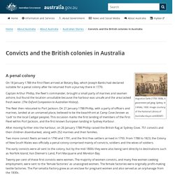 Convicts and the British colonies in Australia
