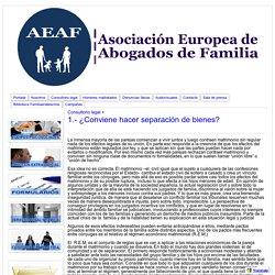 1.- ¿Conviene hacer separación de bienes? - Asociacion Europea de Abogados de Familia