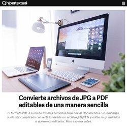Convierte archivos de JPG a PDF editables