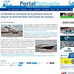 Le Boréal se convierte en la primera nave en atracar al terminal Molo del Puerto de Iquique