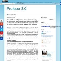 Profesor 3.0: Convierteté en un flipper con sólo cuatro mensajes y un resumen...