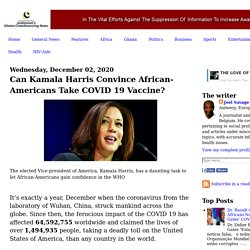 Can Kamala Harris Convince African-Americans Take COVID 19 Vaccine?