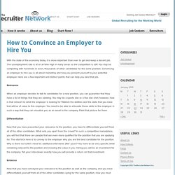 How to Convince an Employer to Hire You
