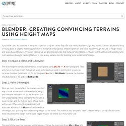 Blender: Creating convincing terrains using height maps - PMG - Advertising Agency