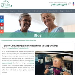 Tips on Convincing Elderly Relatives to Stop Driving