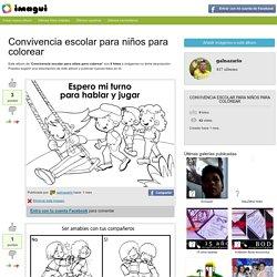 Convivencia escolar para niños para colorear - Imagui