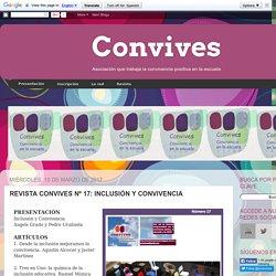 Convives: REVISTA CONVIVES Nº 17: INCLUSIÓN Y CONVIVENCIA