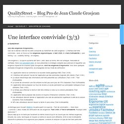 Une interface conviviale (3/3)