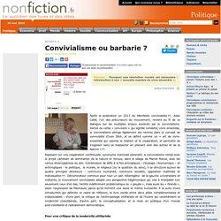 Convivialisme ou barbarie