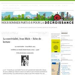 La convivialité, Ivan Illich – fiche de lecture »