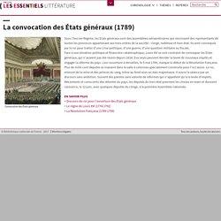 La convocation des États généraux (1789)