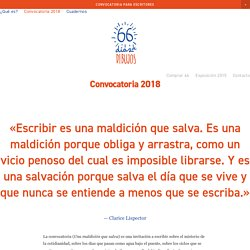Convocatoria 2018 — 66 días de dibujos