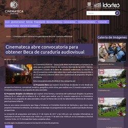 Cinemateca abre convocatoria para obtener Beca de curaduría audiovisual