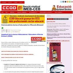 Convocatòria borsa d'educador/a d'Escola Bressol ~ @CCOOEducació Ajuntament Barcelona