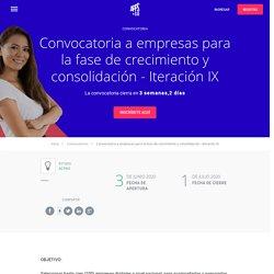 apps.com - Convocatoria a empresas para la fase de crecimiento y consolidación - Iteración IX