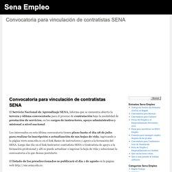 Convocatoria para vinculación de contratistas SENA