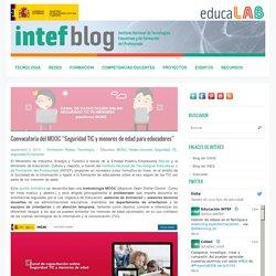 """Convocatoria del MOOC """"Seguridad TIC y menores de edad para educadores"""""""