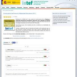 Convocatoria de Premios a Materiales Educativos 2012