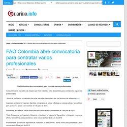 FAO Colombia abre convocatoria para contratar varios profesionales