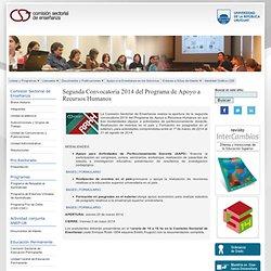 1ª Convocatoria 2013 - Programa de Apoyo a Recursos Humanos
