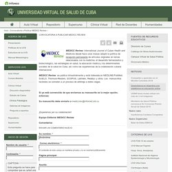 Convocatoria a Publicar MEDICC Review