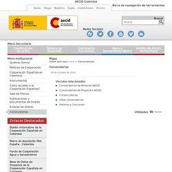Convocatorias - AECID Colombia
