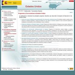 Programas y Convocatorias en Estados Unidos - Consejerias Exteriores - Ministerio de Educación, Cultura y Deporte - Gobierno de España