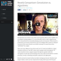 Reverb Comparison: Convolution vs. Algorithmic