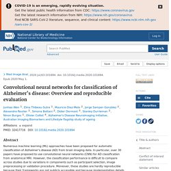 Convolutional neural networks for classification of Alzheimer's disease: Overview and reproducible evaluation