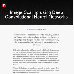 Image Scaling using Deep Convolutional Neural Networks — Flipboard Engineering