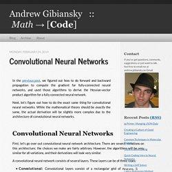 Convolutional Neural Networks - Andrew Gibiansky