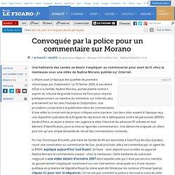 France : Convoquée par la police pour un commentaire