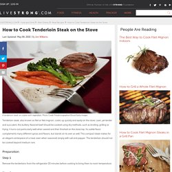 How to Cook Tenderloin Steak on the Stove